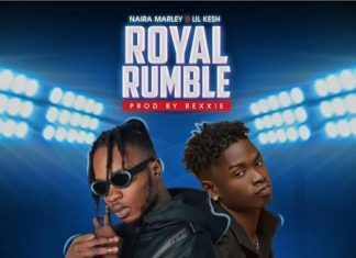 Naira Marley ft. Lil' Kesh - ROYAL RUMBLE (prod. by Rexxie) Artwork | AceWorldTeam.com