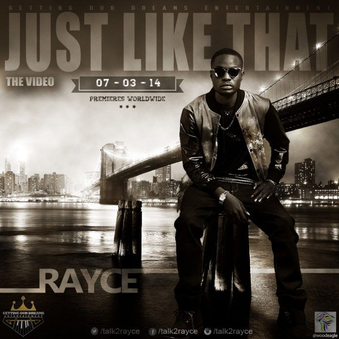 Rayce - JUST LIKE THAT [Official Video] Artwork | AceWorldTeam.com