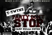 T-Twyne - PARTY DON'T STOP [a Camp Mulla cover] Artwork | AceWorldTeam.com